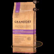Grandorf Низкозерновой корм ягнёнок с рисом для взрослых собак крупных пород