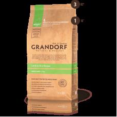 Grandorf Низкозерновой корм ягнёнок с рисом для взрослых собак мини пород
