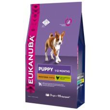 EUK Dog корм для щенков средних пород 3 кг
