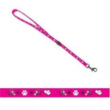 Петля Show Tech 16 мм для удержания собаки, розовая с лапкой
