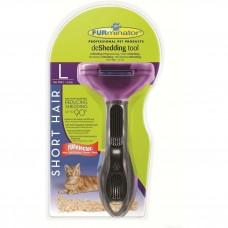 Furminator L для кошек больших короткошерстных пород short hair large cat flower design 7 см
