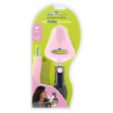 """Furminator набор для котенка сликер+расческа my furst groomer """"мой первый грумер"""""""