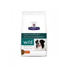 Хиллс (Hill's) w/D Для собак лечение сахарного диабета, запоров, колитов.