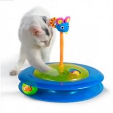 """Petstages игрушка для кошек """"Трек с двумя мячиками"""""""