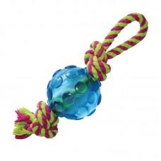 """Petstages игрушка для собак mini """"орка мячик с канатом"""""""