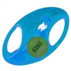 KONG игрушка для собак Джумблер Регби 18 см средние и крупные породы, синтетическая резина, цвета в ассортименте