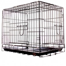 Клетка для домашних животных хромированная 61х44х50см 041CC