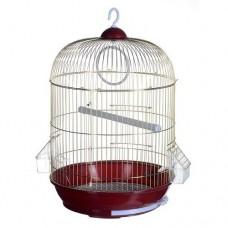 Клетка для птиц золотая круглая 33х53
