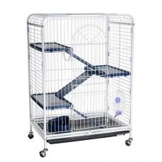 Клетка для шиншилл и хорьков на колесах 64х43,5х92,5