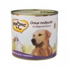 Мнямс консервы для собак Олья Подрида по-Барселонски (мясное ассорти с морковью) 600 г
