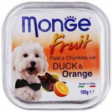 Monge Dog Fruit утка с апельсином 100 г