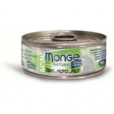 Monge Cat Natural консервы для кошек тунец с курицей 80 г.