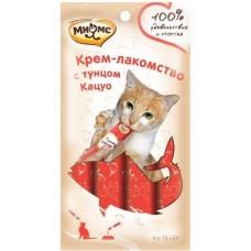 Мнямс Крем-лакомство для кошек с тунцом Кацуо 15 г х 4 шт.