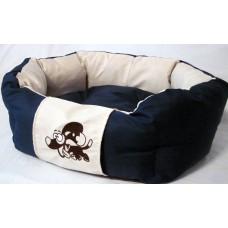 Лежак для собак ЗверьПостель Линия Эко с отделкой 65х55