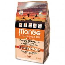 Monge Dog GRAIN FREE корм для щенков утка с картофелем 2,5 кг