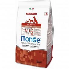 Monge Dog Mini для щенков мелких пород ягненок с рисом и картофелем