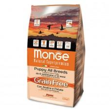 Monge Dog GRAIN FREE Mini корм для собак мелких пород утка с картофелем