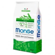 Monge Dog Speciality корм для собак всех пород кролик с рисом и картофелем