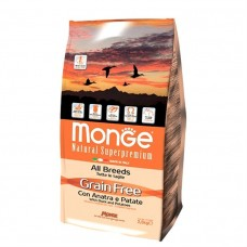 Monge Dog GRAIN FREE корм для собак всех пород утка с картофелем