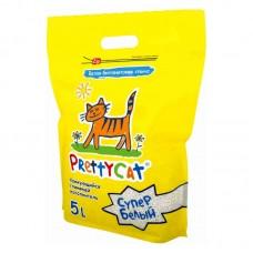 """PrettyCat наполнитель комкующийся для кошачьих туалетов """"Супер белый"""" 4,2 кг (5 л)"""