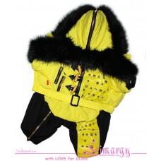 Зимний комбинезон 'Fur Zip' желтый