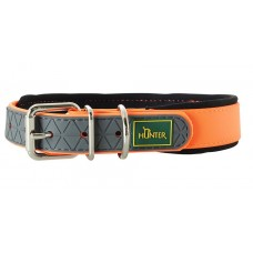 Hunter ошейник для собак Convenience Comfort 45 (32-40 см)/2 см биотановый мягкая горловина оранжевый неон