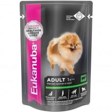EUK Dog паучи корм для собак с говядиной в соусе 100 г