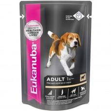 EUK Dog паучи корм для собак с ягненком в соусе 100 г